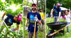 SCA leader Geovani Caldero leading Find Your Park volunteers