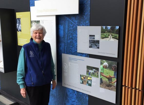 Liz and SCA display on The Bridge