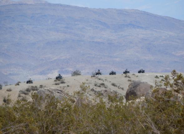 The crew had the chance to ridge-run during the ATV training!