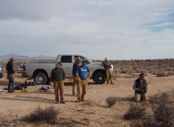 Wilderness Crew working with Jawbone/Rands crew on a Restoration Site.