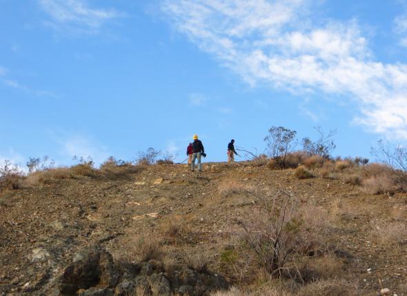 Sometimes we work on big hills...