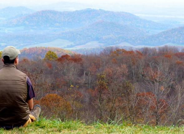 SCA Centennial Volunteer Ambassador Jacob Breslin at Shenandoah National Park
