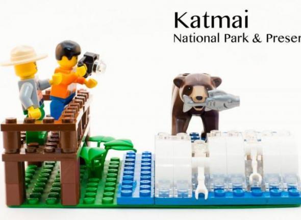 Katmai National Park LEGO set vignette designed by Park Ranger Gavin Gardner.