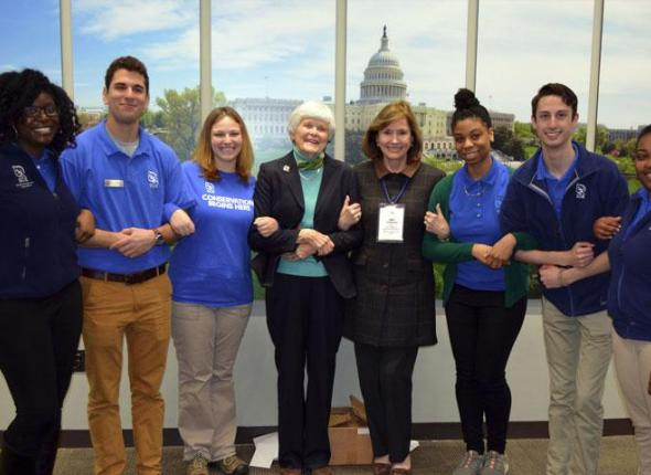 SCA Founder Liz Putnam meeting with some of the Centennial Volunteer Ambassadors in Washington DC