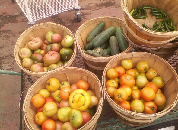 Delicious veggies from the Unity Garden!