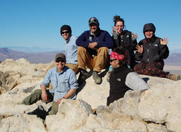 The Crew on top of Freemont Peak