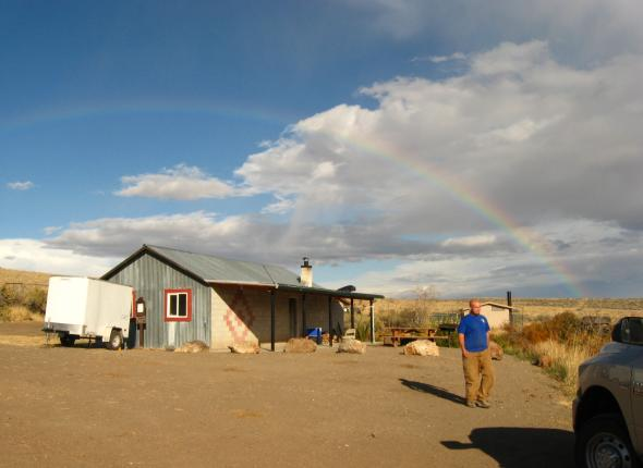 Steven's Camp and a Rainbow and Josh