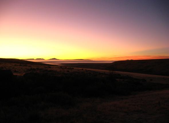 sunrise from Steven's Camp