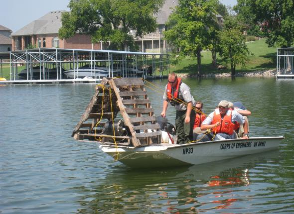 Conservation project 8 old hickory and fish attractors for Public fishing spots near me