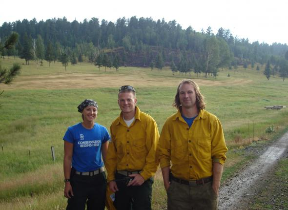 Corps members at Hay Creek Fire, VFC Team 1's first fire of the season!