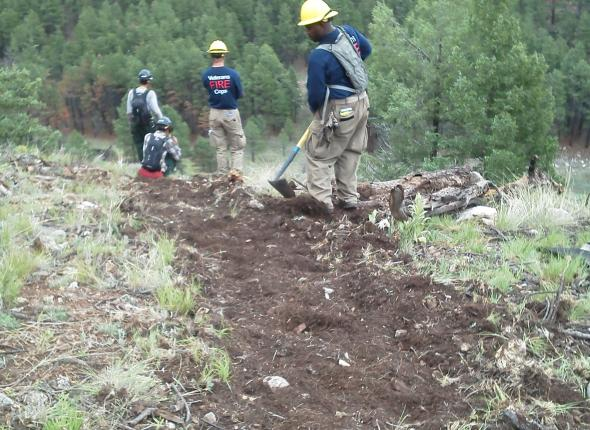 VFC Team constructs fire line in the Heckethorn area