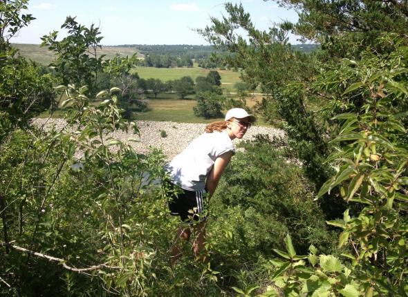 Alison exploring a site!