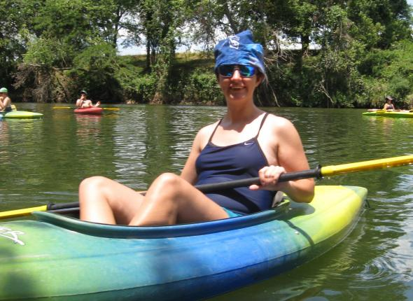 Erin enjoying some off-time kayaking!