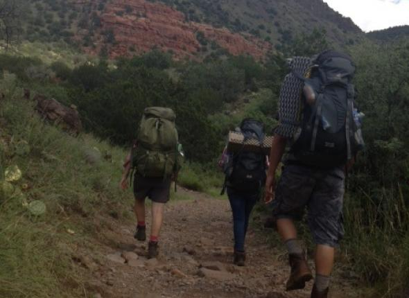 backpacking in