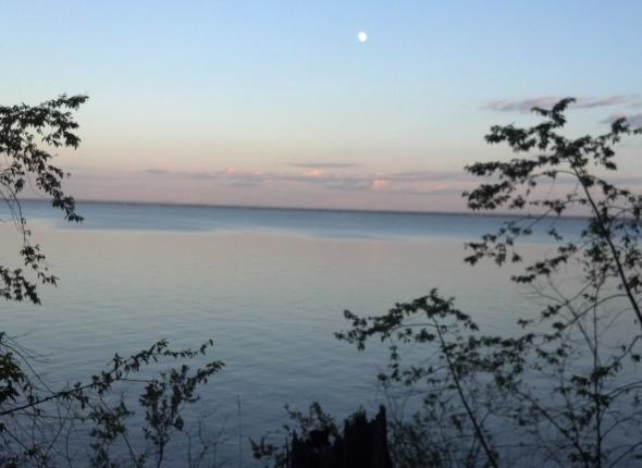 Moonrise over Lake Superior, Washburn, WI