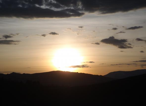 Sunset near Granby CO