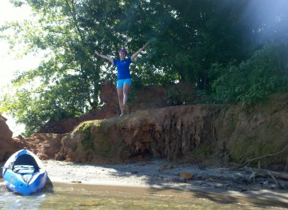 Erin is happy at Lake Lanier!