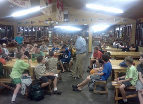Tim presenting to Boy Scouts