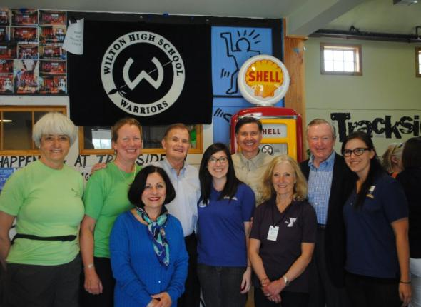 Wilton town leaders at the Y's Earth Day celebration