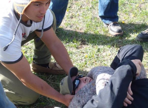Woofa - Aries Wilderness First Aid Training -  Black Hills SD 2013