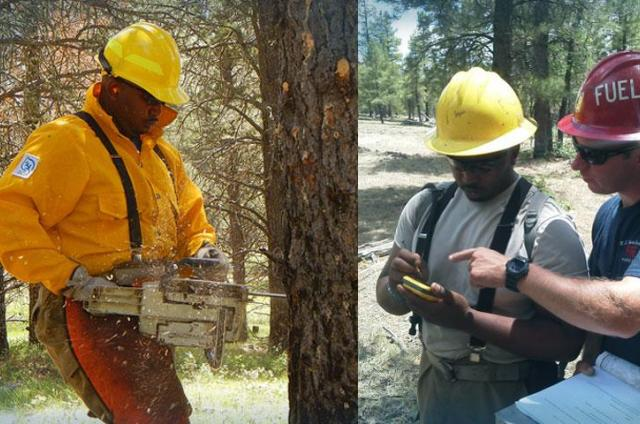 Davon Goodwin, SCA Alum at work with the Veterans Fire Corps