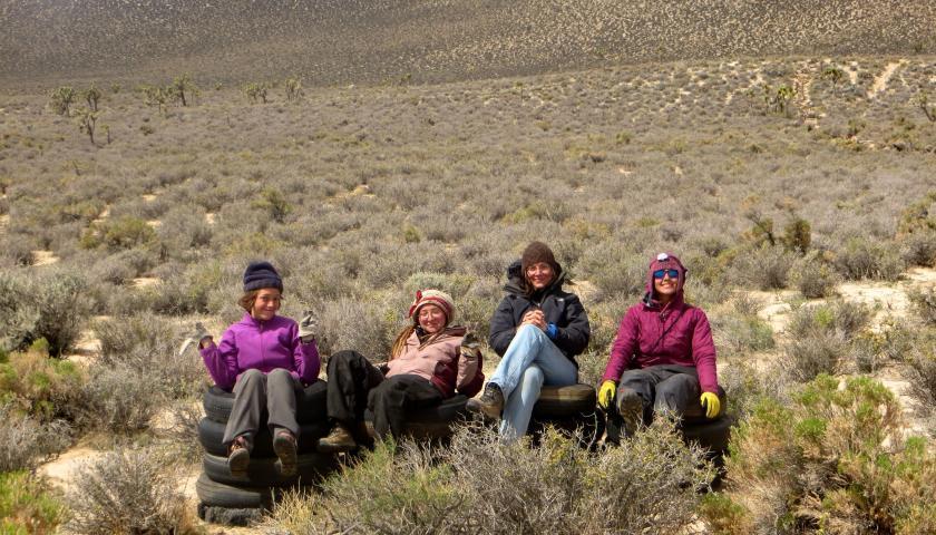 Desert Restoration Corps-Jawbone crew. Ladies Hitch 12.