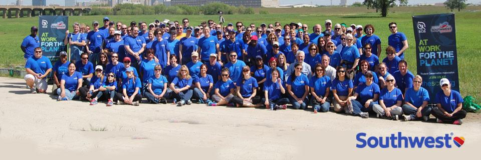 Southwest Airlines Employees volunteering for SCA conservation projects.