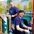Domtar volunteers restore playgrounds at the BC Wildlife Park in Kamloops